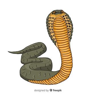 リアルな手描きのヘビ