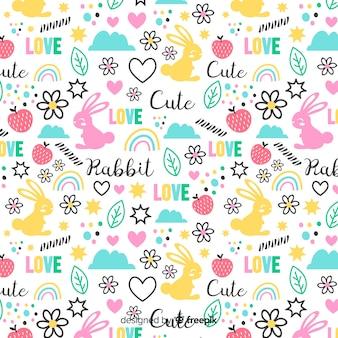 面白い落書き動物や言葉のパターン