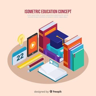 Изометрические концепция образования фон
