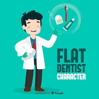 Плоский характер дантиста
