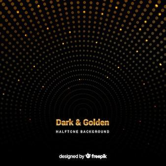 金色の火花と暗い背景