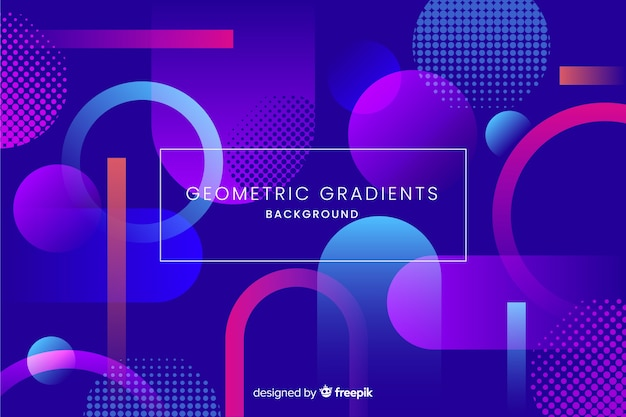 グラデーションパーツと幾何学的な背景