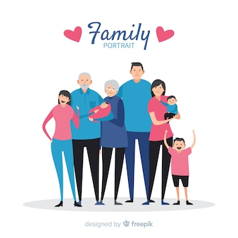 単純な家族の肖像画