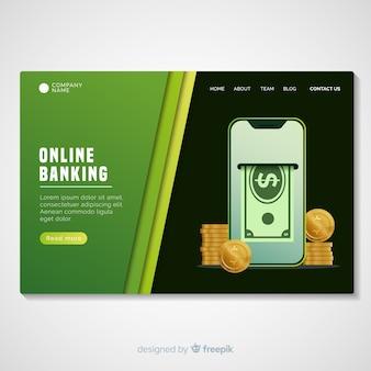 Шаблон целевой страницы онлайн-банкинга
