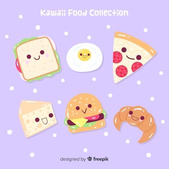 Коллекция рисованной очаровательны еды