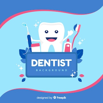 Фон плоский стоматолог