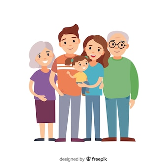 手描きの家族の肖像画