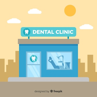 Фон плоской стоматологической клиники