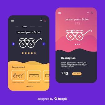 手描きの携帯アプリのコンセプト