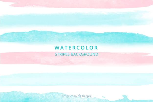 美しい水彩画の縞模様の背景