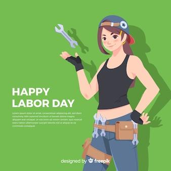 Счастливый день труда фон