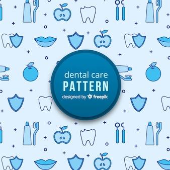 平らな歯科医のパターン