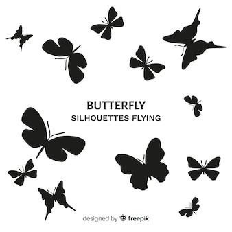 Бабочки летающие фон