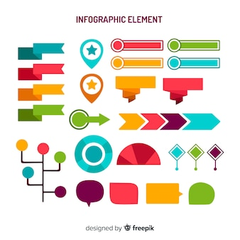 インフォグラフィック要素のコレクション