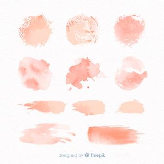 桃の水彩画のスプラッシュコレクション