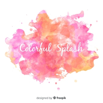 カラフルな水彩スプラッシュ