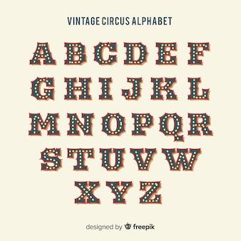 ビンテージサーカスアルファベット