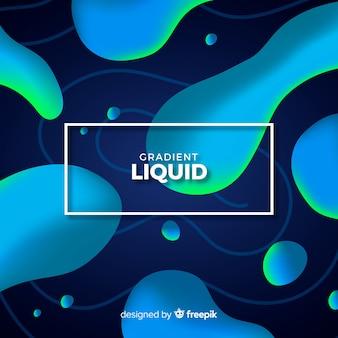 グラデーション液体図形の背景