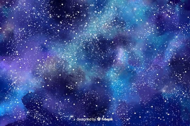 Акварель звездная ночь фон