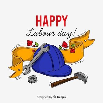 幸せな労働者の日の背景