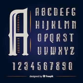 ビンテージアルファベット