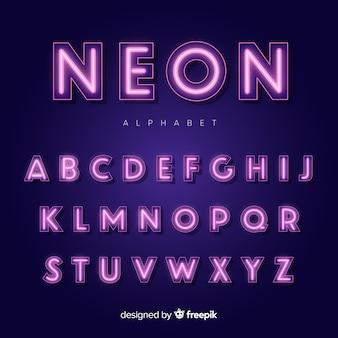 ネオンアルファベット