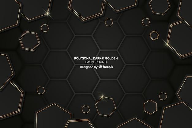 暗い多角形の背景