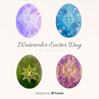 復活祭の日の卵のコレクション