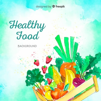 Здоровая пища фон