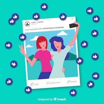 Ручной обращается молодые люди социальные медиа, как концепция фона