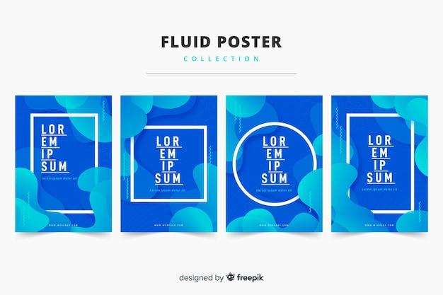 Жидкая коллекция плакатов