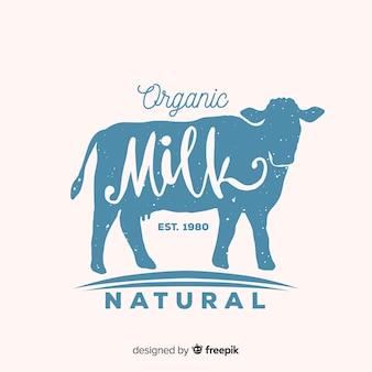 牛シルエットミルクロゴ