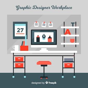 グラフィックデザイナー職場