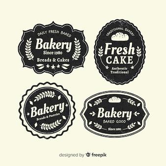 ビンテージベーカリーのロゴのテンプレート