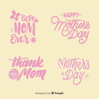 День матери надписи коллекция этикеток
