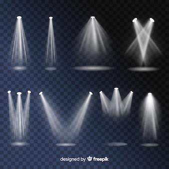 Реалистичная сцена освещения