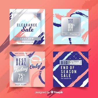 Рекламный квадратный баннер