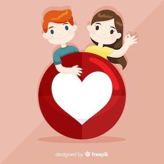 Ручной обращается молодые люди социальные медиа сердце концепции фон