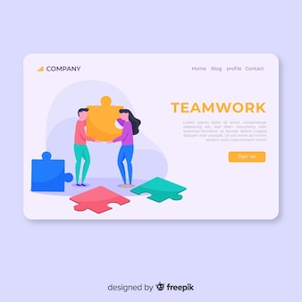 チームワークランディングページ