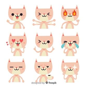 Коллекция рисованной каваий кот