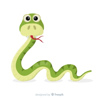 面白い手描きのヘビの背景