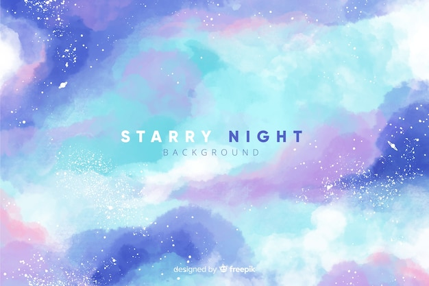 星空の夜の背景