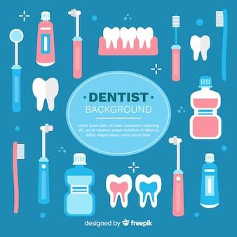 平らな歯科医の背景