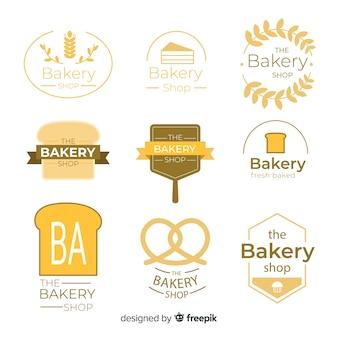 フラットベーカリーのロゴのテンプレート