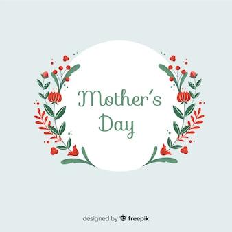 母の日の平らな花の背景