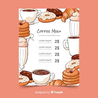 Шаблон меню кофе