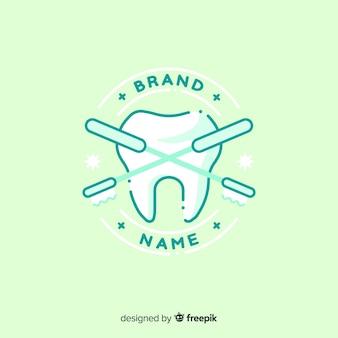 Плоский логотип стоматологической клиники