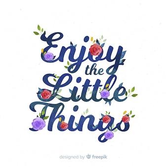 Слоган с рисованной фон цветы