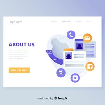О нас дизайн целевой страницы