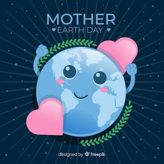 幸せな母なる地球の日